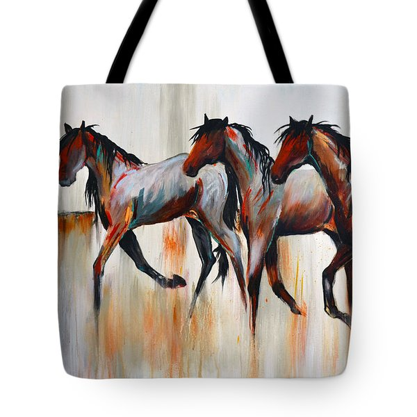 Tote Bag featuring the painting Free Spirits by Cher Devereaux
