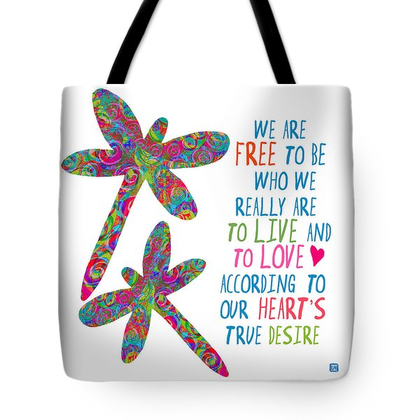 Tote Bag featuring the painting Free To Be by Lisa Weedn