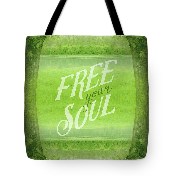 Free Your Soul Grand Canal Forest Fontainebleau Chateau Tote Bag