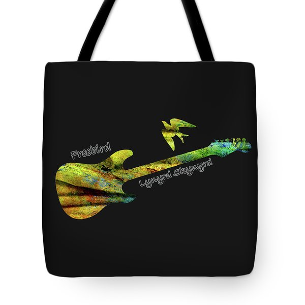 Freebird Lynyrd Skynyrd Ronnie Van Zant Tote Bag by David Dehner