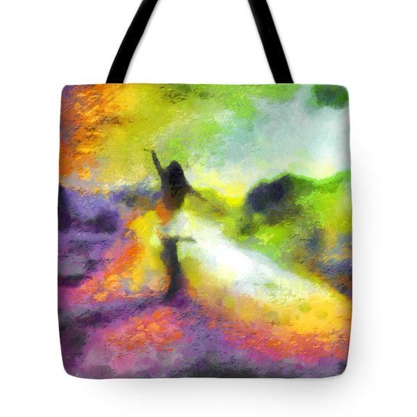 Freedom In The Rainbow Tote Bag
