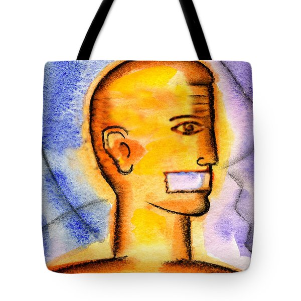 Tote Bag featuring the painting Freedom Of Press  by Leon Zernitsky