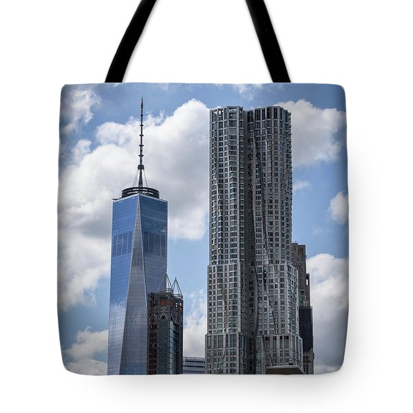 Tote Bag featuring the photograph Freedom Tower by Judy Wolinsky