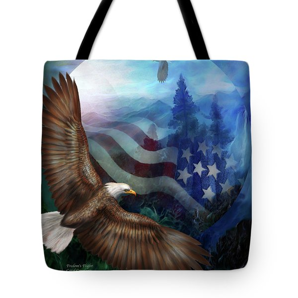 Freedom's Flight Tote Bag by Carol Cavalaris