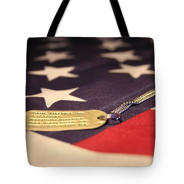 Tote Bag featuring the photograph Freedom's Price by Laddie Halupa