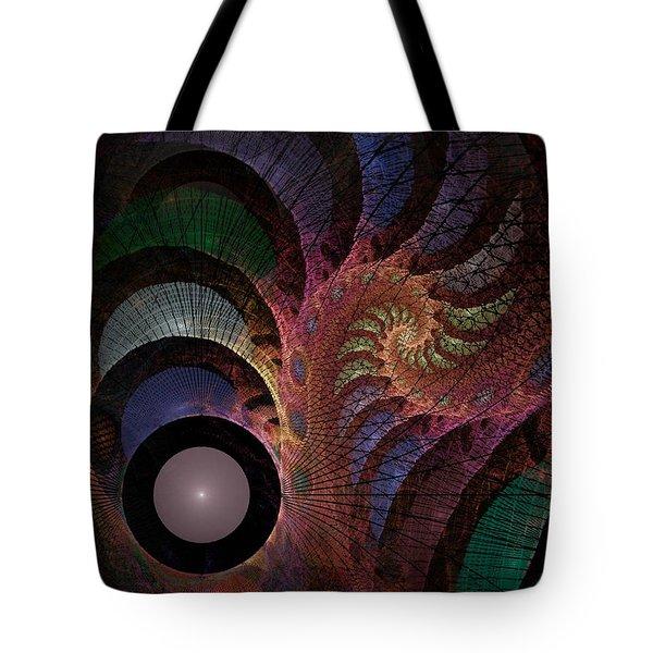 Tote Bag featuring the digital art Freefall - Fractal Art by NirvanaBlues