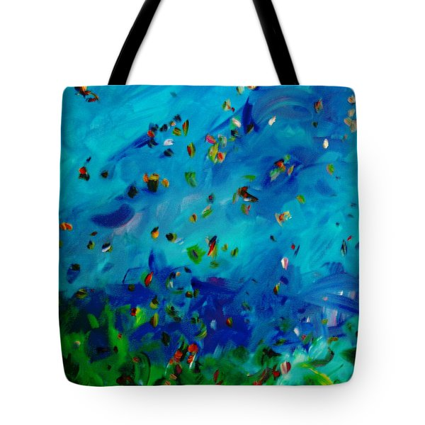 Tote Bag featuring the painting Freelancing  by Reina Resto