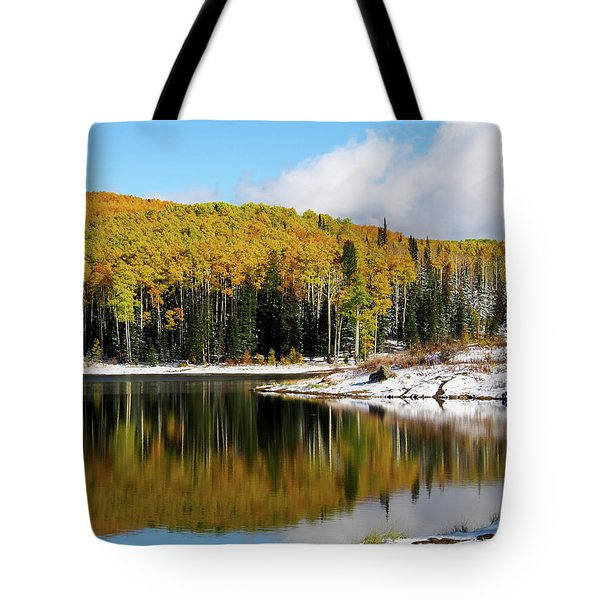 Freeman Lake In Northwest Colorado In The Fall Tote Bag