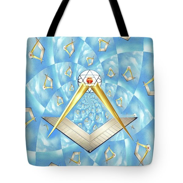 Freemason Symbolism Tote Bag