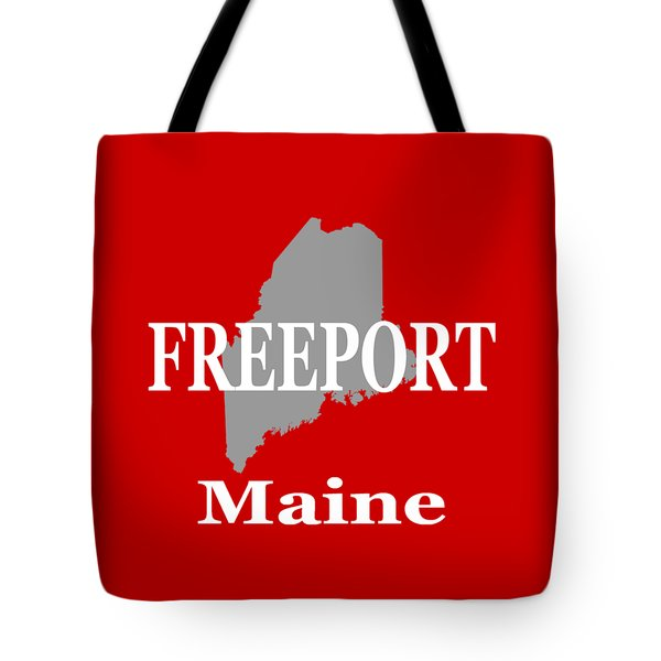 Tote Bag featuring the photograph Freeport Maine State City And Town Pride  by Keith Webber Jr