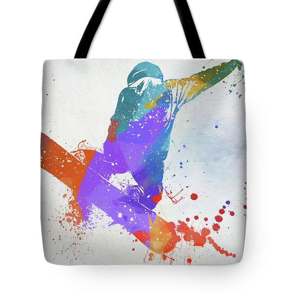 Freestyle Snowboarder Tote Bag