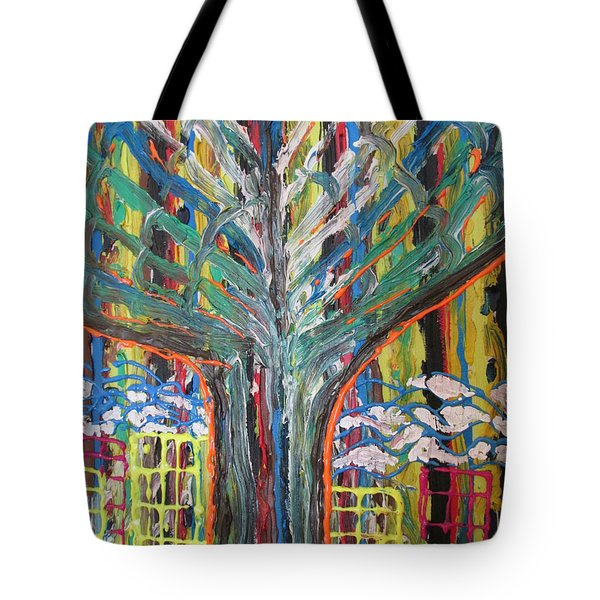 Freetown Cotton Tree - Abstract Impression Tote Bag by Mudiama Kammoh