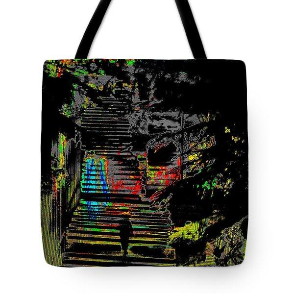 Freeway Park Steps Tote Bag by Tim Allen