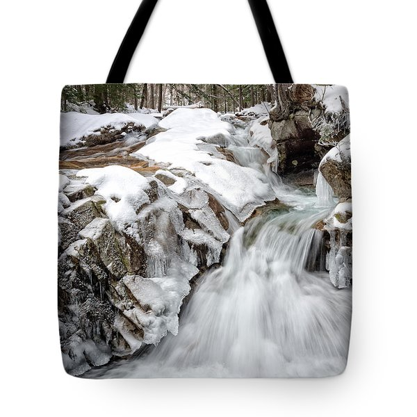 Freeze On The Basin Trail Nh Tote Bag