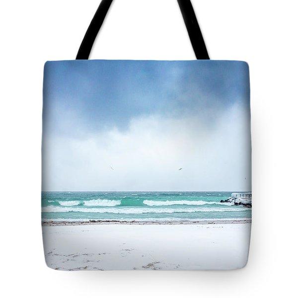 Freezing Storm Tote Bag