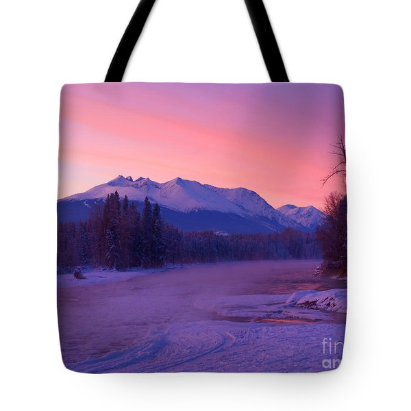Freezing Under The Glow Tote Bag