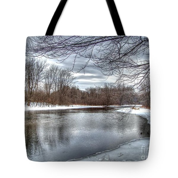 Freezing Up Tote Bag