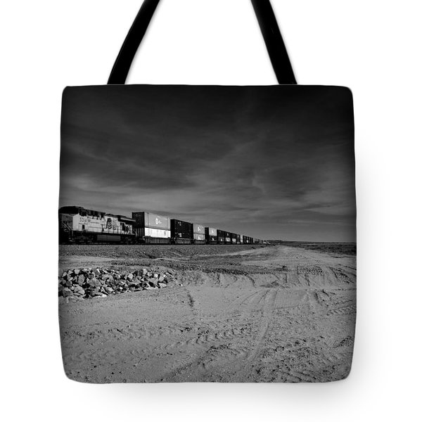 Freight Train Along  Salton Sea Tote Bag
