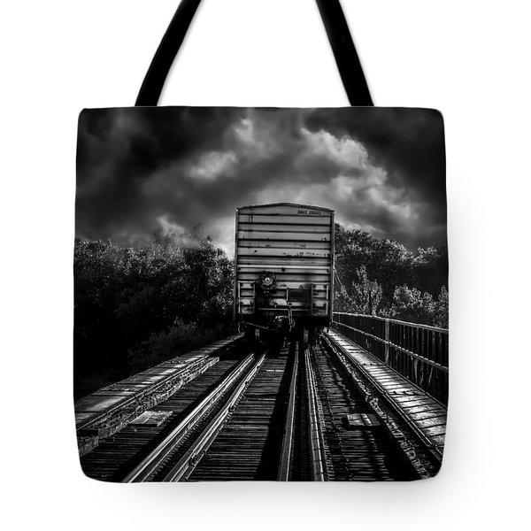 Freight Train Blues Tote Bag by Bob Orsillo