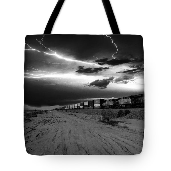 Freight Train Lighting Tote Bag