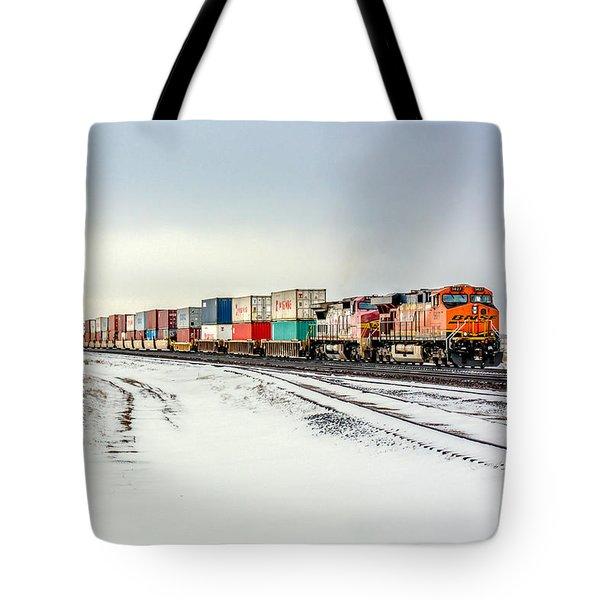 Freight Train Tote Bag