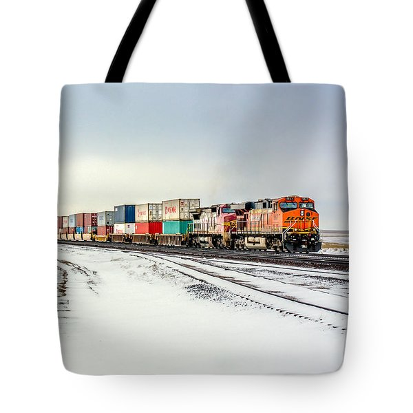 Freight Train Tote Bag
