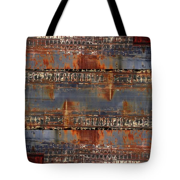 Freighter Abstract 11 Tote Bag