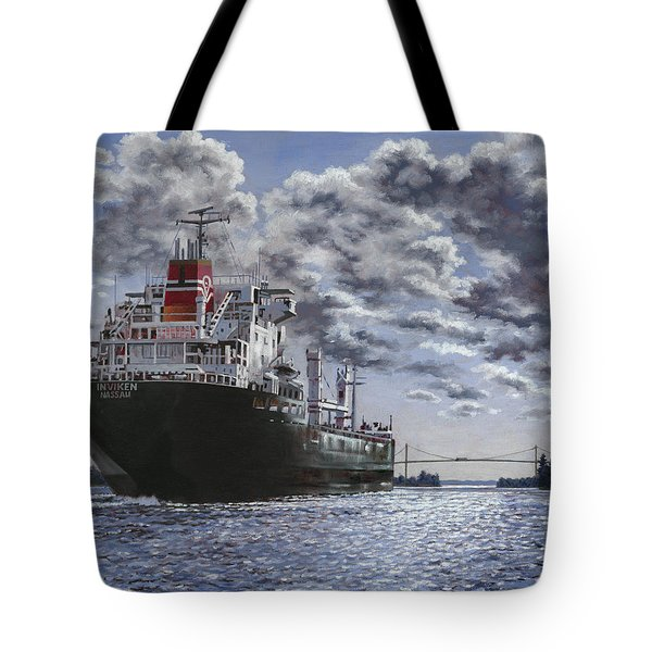 Freighter Inviken Tote Bag