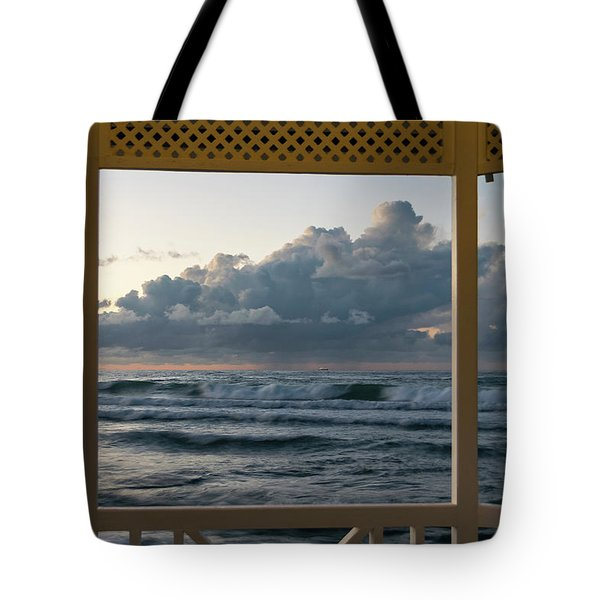 Freighter Off Montego Bay Tote Bag