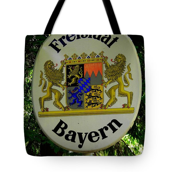 Freistaat Bayern Tote Bag by Juergen Weiss