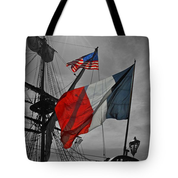 French And American Friendship Tote Bag