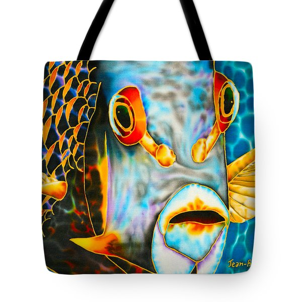 French Angelfish Face Tote Bag