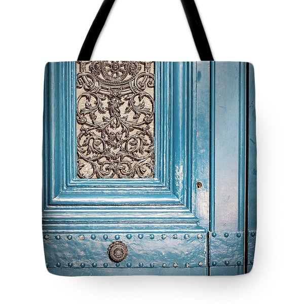 French Blue - Paris Door Tote Bag by Melanie Alexandra Price