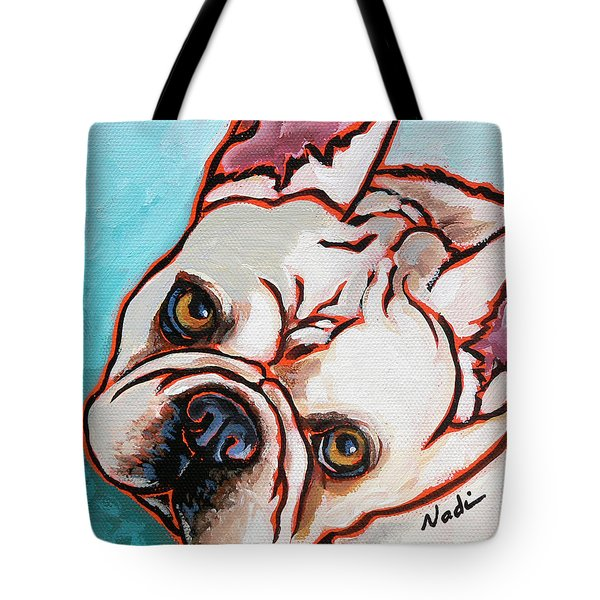 French Bulldog Tote Bag by Nadi Spencer