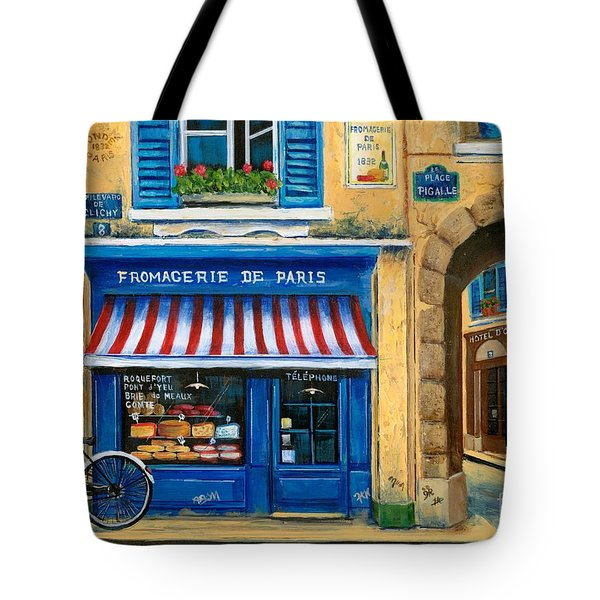 French Cheese Shop Tote Bag by Marilyn Dunlap
