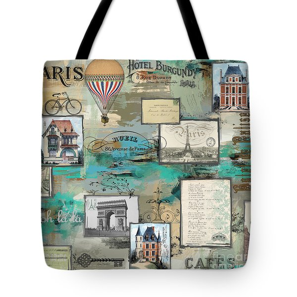 French Collage-c Tote Bag