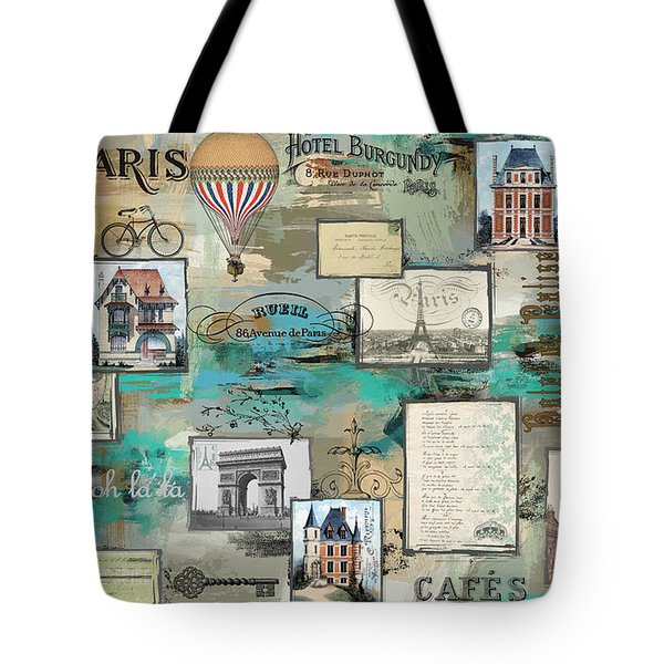 French Collage-a Tote Bag