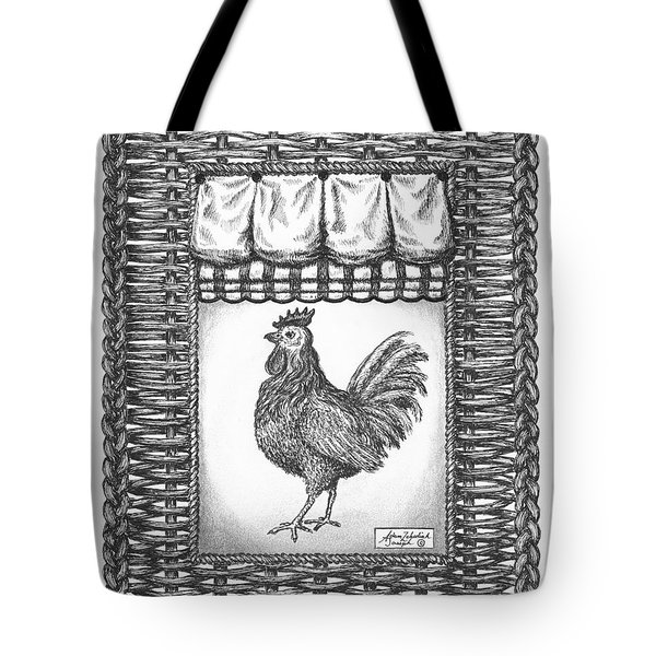 French Country Rooster Tote Bag by Adam Zebediah Joseph