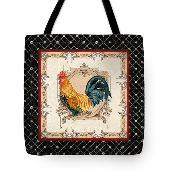 French Country Roosters Quartet 4 Tote Bag