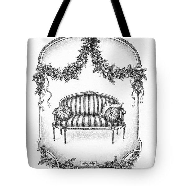 French Country Sofa Tote Bag by Adam Zebediah Joseph