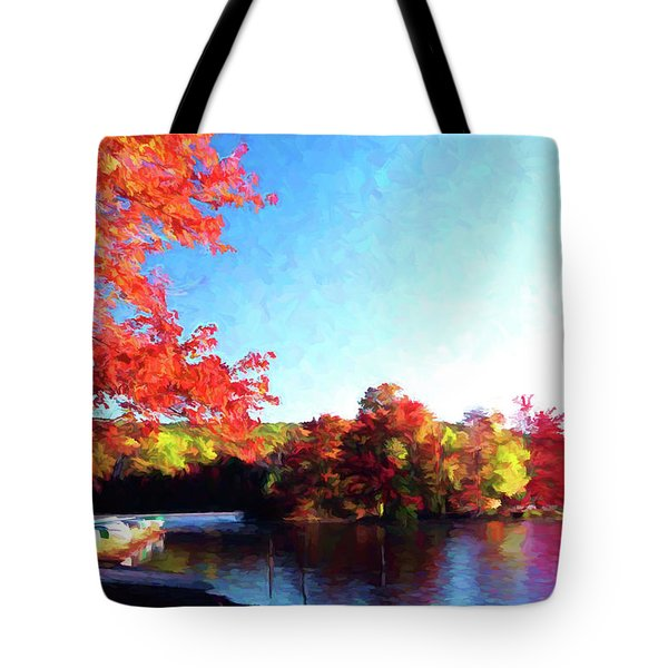 French Creek Fall 020 Tote Bag by Scott McAllister