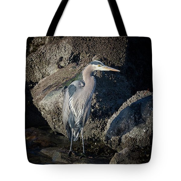 Tote Bag featuring the photograph French Creek Heron by Randy Hall