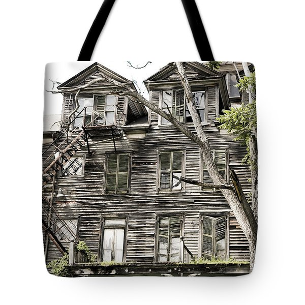 Tote Bag featuring the photograph French Doors And Fire Escapes by Carol Lynn Coronios