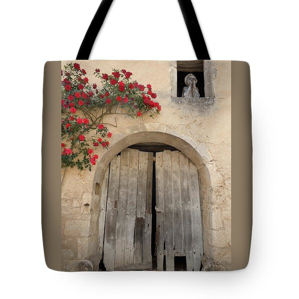 French Doors And Ghost In The Window Tote Bag by Marilyn Dunlap