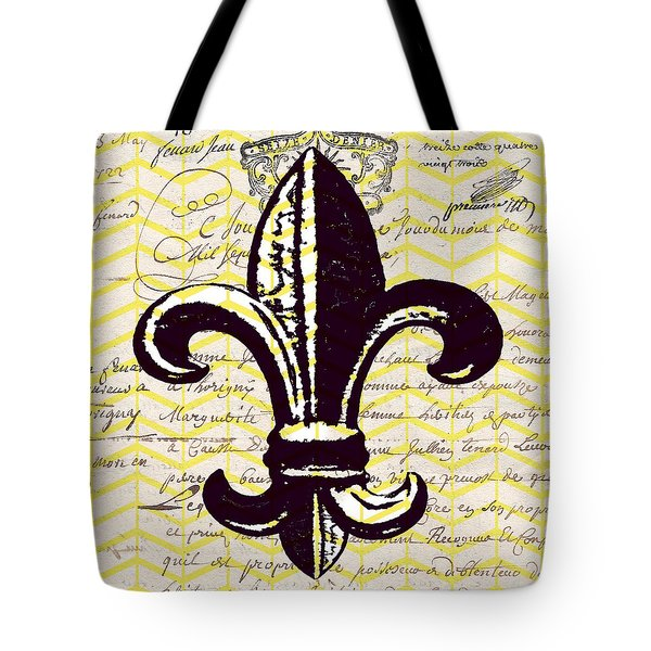 French Fleur De Lis V3 Tote Bag by Brandi Fitzgerald
