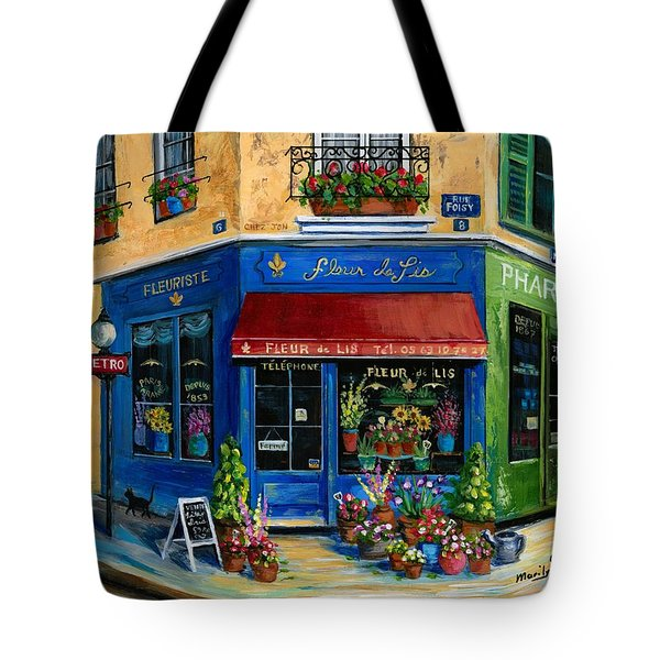 French Flower Shop Tote Bag by Marilyn Dunlap