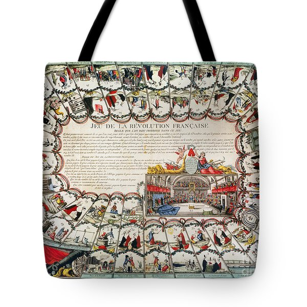 French Game Board, 1791 Tote Bag by Granger