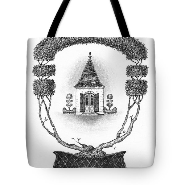 French Garden House Tote Bag by Adam Zebediah Joseph