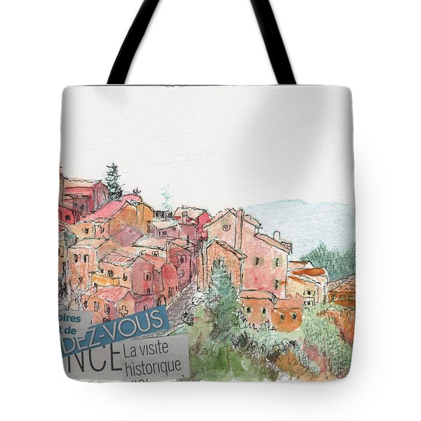 French Hill Top Village Tote Bag