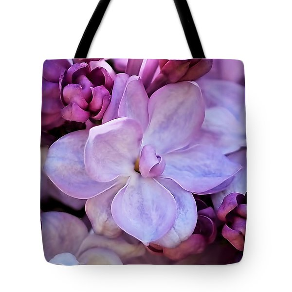 Tote Bag featuring the photograph French Lilac Flower by Rona Black